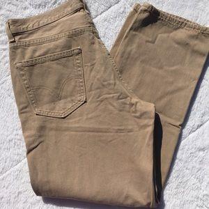 Levi's Mens 550 Khaki Jeans